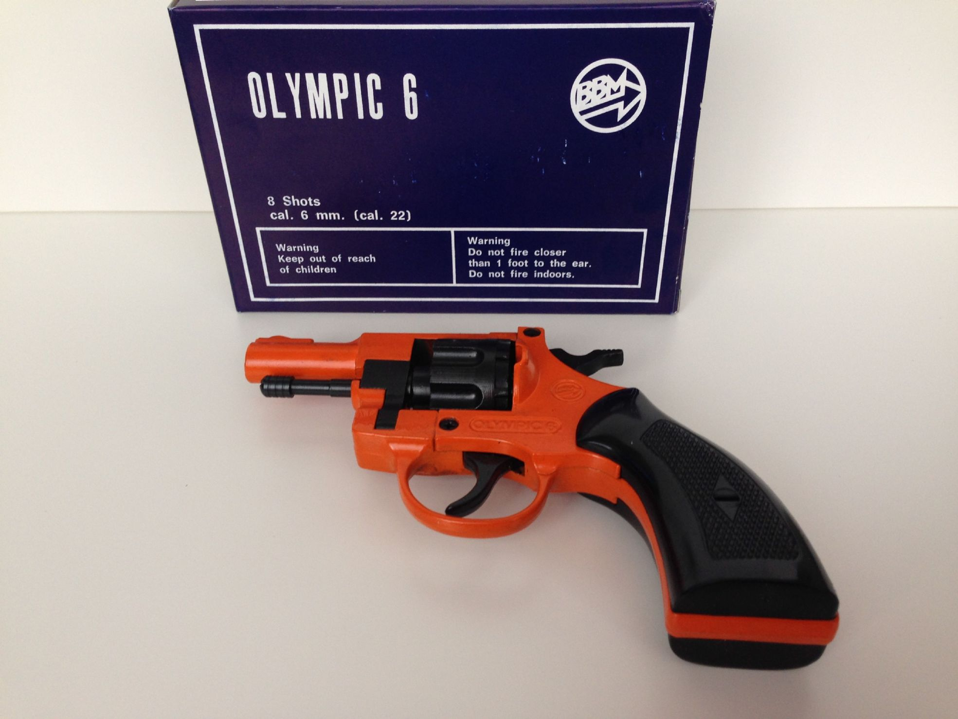 Blanking Firing Revolver Cal  22 6mm Orange Olympic 6